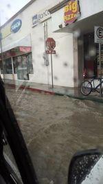 Lluvia en La Paz, BCS, 9 de agosto 2014. Crédito Marbella Rivera
