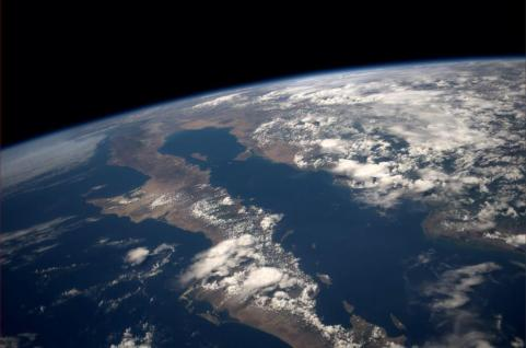 Baja California Sur visto desde la estación espacial internacional. ISS. Agosto 2014.