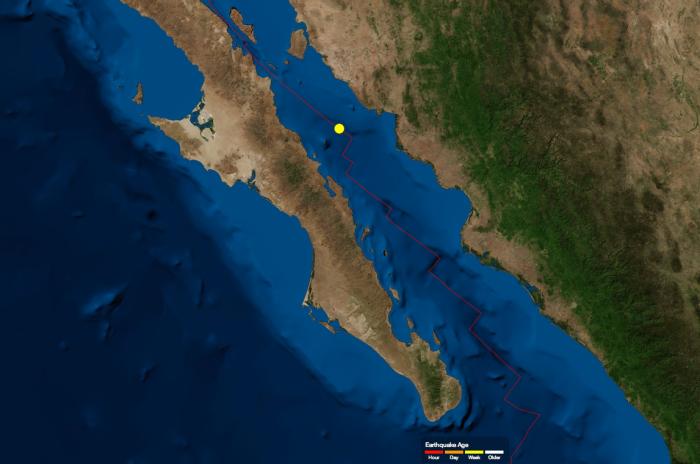 Sismo de magnitud 5.0 en el Golfo de California
