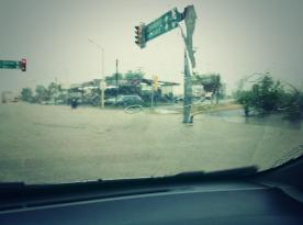 Lluvia en La Paz, 12 de agosto 2014. Crédito Carlos Garnica.