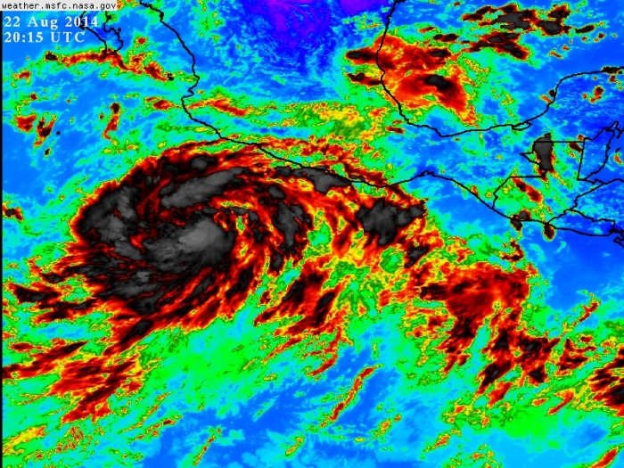 Infrarrojo actual de la tormenta tropical Marie, GOES -IR 3
