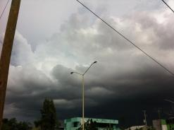 Tormenta eléctrica el día 25 de septiembre de 2014. Crédito Eduardo Hernández