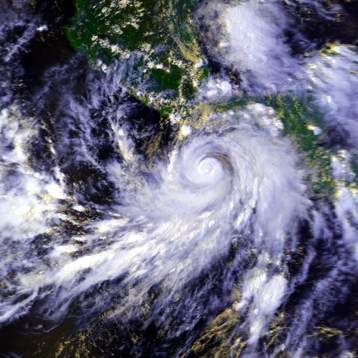 Huracán Paulina, octubre 1997. NASA/NOAA
