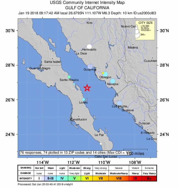 reportes de intensidad USGS